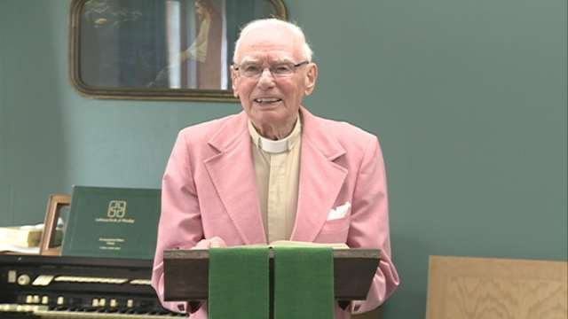 Albert Hock turns 95 in August. That makes him the oldest pastor in the North American Lutheran Synod.