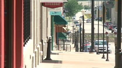 Businesses along Main Street in Dubuque