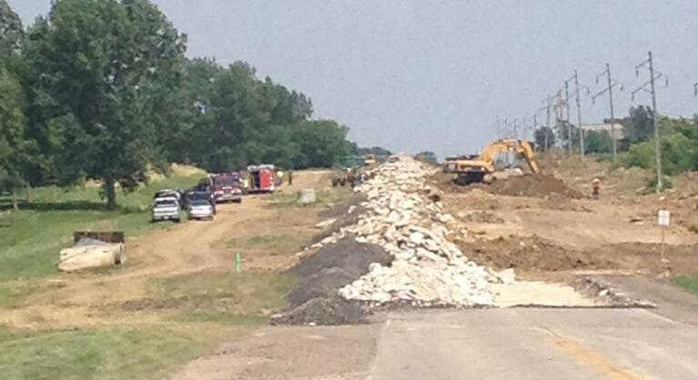 Waterloo Fire officials confirmed one construction worker is dead after a trench collapse accident Friday afternoon.