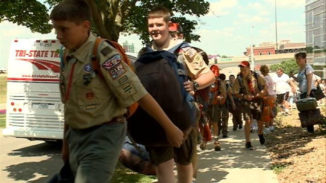 Eastern Iowa Boy Scouts are on their way to West Virginia for the annual Boy Scout Jamboree.