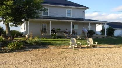 The couples home before the fire Friday morning.