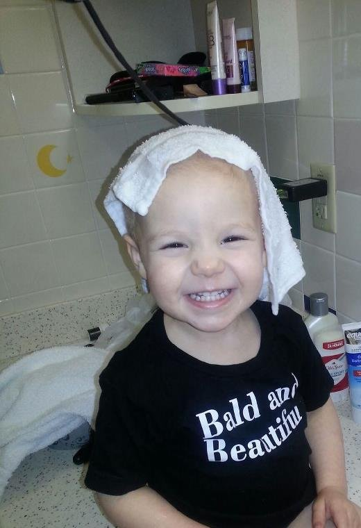 Kinsley has received radiation and chemotherapy treatments since her diagnosis in February 2013.