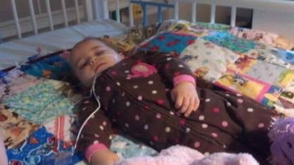 Family members say 18-month-old Myah is now off life support, blind and has only brain stem activity