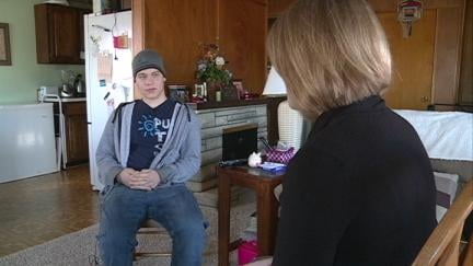 Justice Krambeer, 19, talks with KWWL reporter Becca Habegger about life with a mental illness