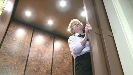Ann Kearney, 72, retired Wednesday from her elevator operator position