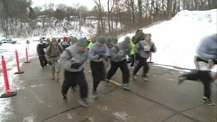 Two dozen people turned out Saturday morning for the Run for the Troops 5K in East Dubuque, Ill.