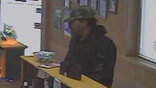 A surveillance photo from a robbery in Oxford Junction; July 30, 2013