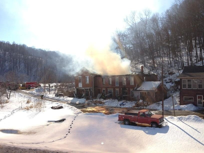 Fire destroyed this Clayton County house Saturday afternoon