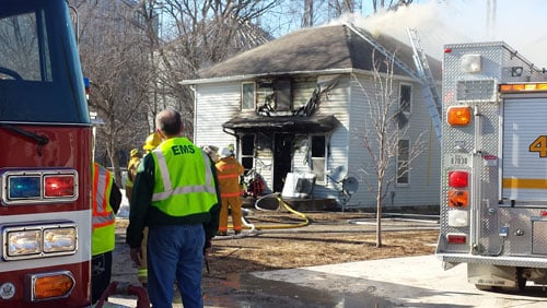 Crews put out a fire in Dewar on Thursday afternoon.