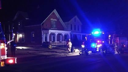 Dubuque firefighters responded to a porch fire at 2461 Central Avenue  Monday night