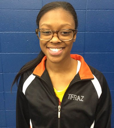 Tuliyah Frazier, 18, a senior at Waterloo East