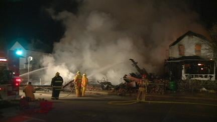 Fire destroys four Marquette buildings on March 17