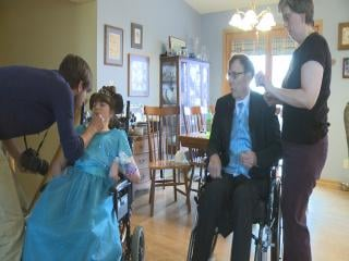 The Sivola family spent all day getting ready for the prom.