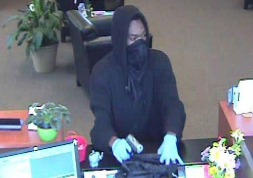 A security photo of the robbery April 30, 2014, at a U.S. Bank in Cedar Rapids