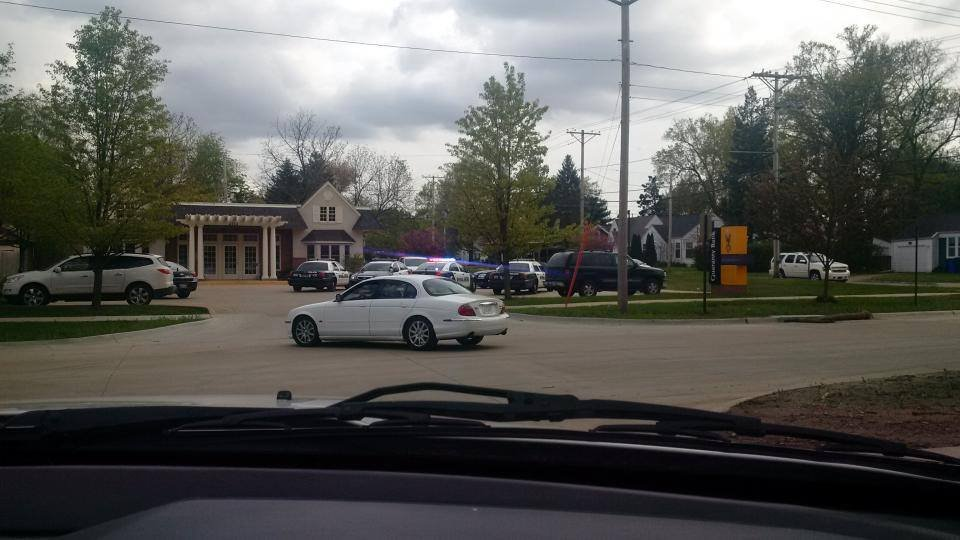 Photo of Guaranty Bank in Cedar Rapids Friday. (Courtesy KWWL viewer Danielle Lynn Lepa)