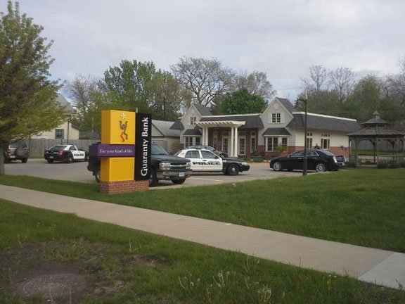 Police investigated armed bank robbery at Guaranty Bank in Cedar Rapids Friday.