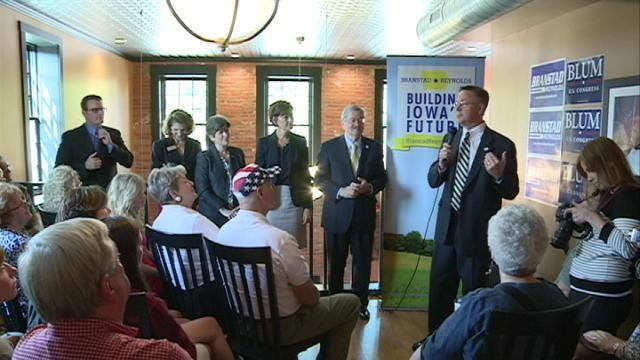 Some of Iowa's top Republicans gathered in Dubuque Thursday morning for a campaign kick-off tour stop