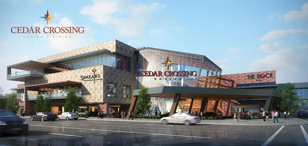 A rendering of what the Cedar Crossing Casino in Cedar Rapids would have loooked like.
