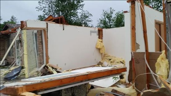A KWWL viewer submitted this photo of Platteville storm damage.