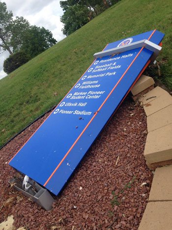 Damage at the University of Platteville. Photo taken Monday, June 23. (Becca Habegger, KWWL)