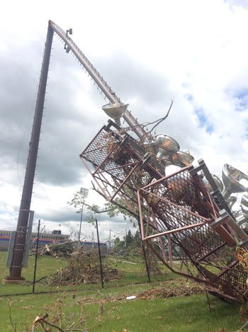 Damage at the University of Platteville. Photo taken Monday, June 23. (Becca Habegger, KWWL)