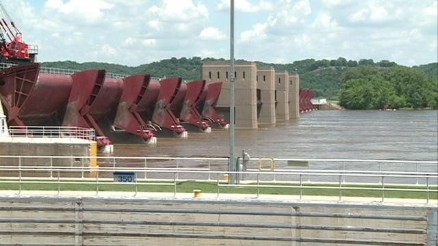 Lock and Dam 11 in Dubuque
