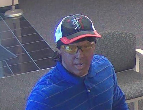 Surveillance footage of the Guaranty Bank suspect