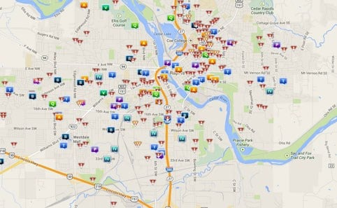 Is your neighborhood safe Cedar Rapids gets crime map KWWL
