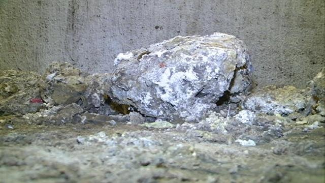 "A chunk of hardened ""FOG"" sits in a Dubuque sanitary sewer lift station"