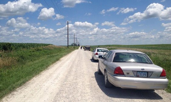 Linn and Buchanan counties as well as DCI investigated the scene in Walker on Wednesday. (Michelle Corless, KWWL)