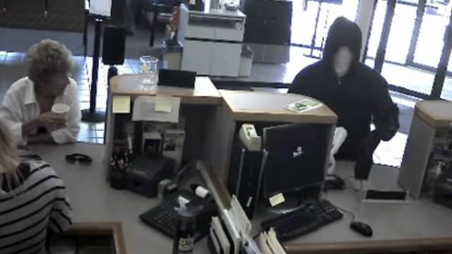 Surveillance photo from the University of Iowa Community Credit Union bank robbery Thursday morning.