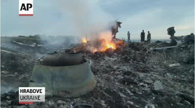 Photos of the aftermath of a Malaysia Airlines plane that was shot down over Ukraine Thursday. (Courtesy AP)