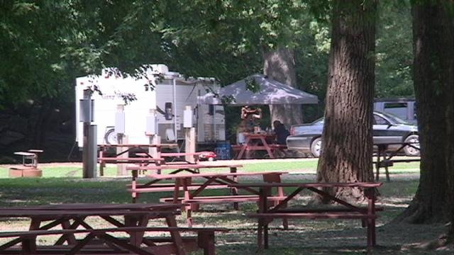 Miller-Riverview Park in Dubuque fills up with campers on Friday, Aug. 1: its first day open all year.