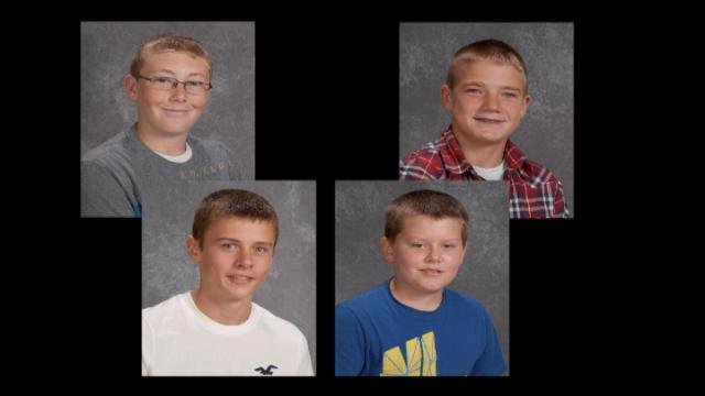 These four 14-year-old boys died in a Dubuque County crash in early August