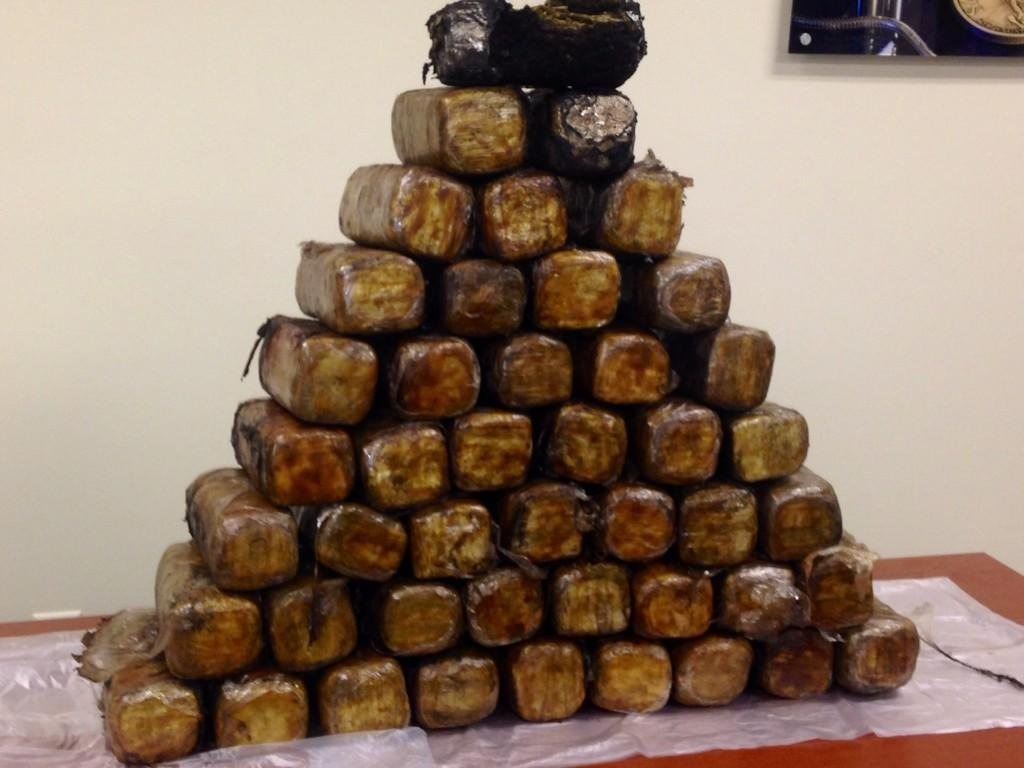 Police say the street value of this seized marijuana is $90,000