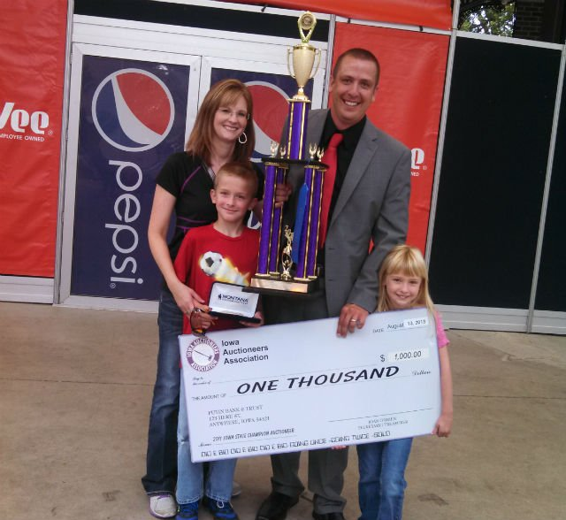 Tim Markham and family after Markham's win at the fair