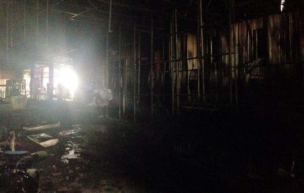 The fire at Earlville is out. Crews say it was confined mostly to the ceiling. (Lauren DeWitt, KWWL)