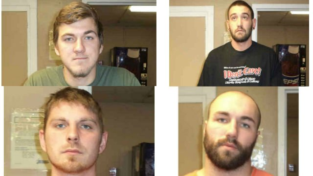 Jeffrey Thomas Stoddard, age 25 of Charles City, Tyler Robert Tonelli, age 21 of Charles City, Brett Ryan Carlson, age 25 of New Hampton, and Cody Lee Cordes, age 26 of New Hampton.