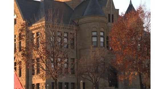The Johnson County Courthouse currently.