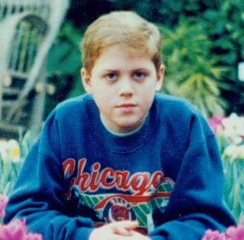 Dan Yuska as a young Bears fan