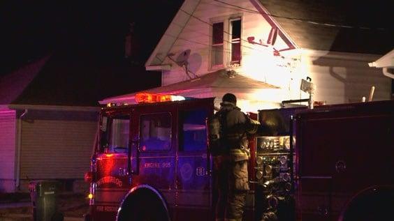 A house fire on Archer Avenue in Waterloo
