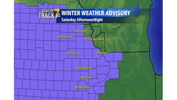 Counties in a winter weather advisory