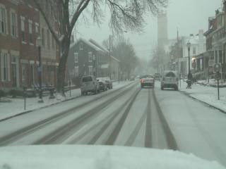 Road conditions in Dubuque on Monday morning. (Brad Hanson, KWWL)