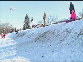 Many sledders in Dubuque frequent Bunker Hills Golf Course, city owned property.