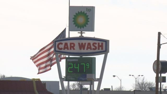 Gas is under $2.50 a gallon in some parts of Cedar Rapids.