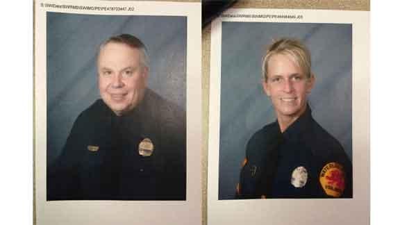 Waterloo Police Officer Randall Hammitt and Sgt. Brooke Carter