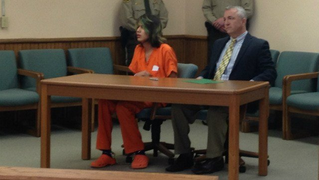 Jonathan Youngbear in court, February 2014