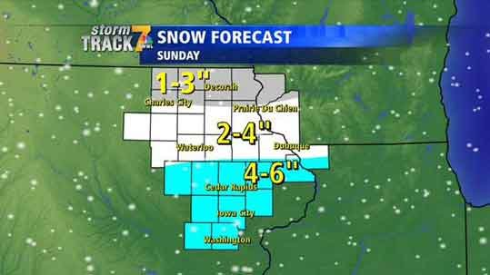 Dean's forecast for Saturday. Jan. 31