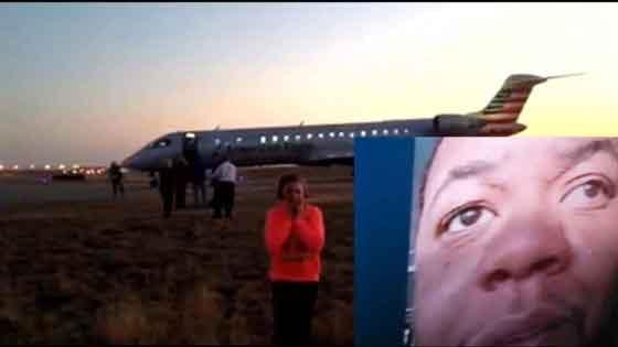 Gibril Mansaray, a passenger on the flight to Cedar Rapids that had to make an emergency landing in Tulsa.