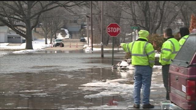 Flooding caused by Ice jams in Cedar Rapids in 2013.